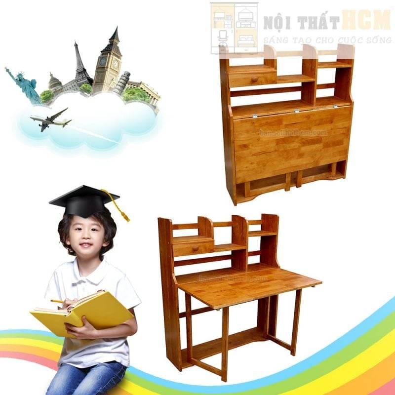 bàn gỗ xếp học sinh